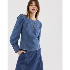 ゲタス Gestuz レディース ブラウス・シャツ トップス Serala denim blouse Denim blue