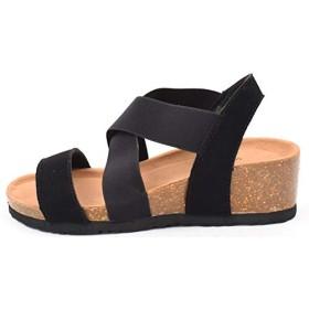 [Shoes in closet] 伸びるベルト&カーフソールのコンフォートサンダル【7292】 (M, ホワイト)