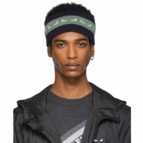 フェンディ Fendi メンズ ヘアアクセサリー Navy & Green Wool Bag Bugs Headband Blue/Grey/Green