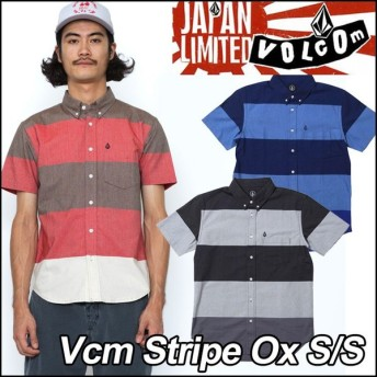 volcom Japan Limited ボルコム シャツ メンズ Vcm Stripe Ox S/S 半そで /【返品種別OUTLET】