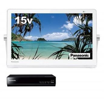 パナソニック 15V型 液晶 テレビ プライベート・ビエラ UN-15T8-W