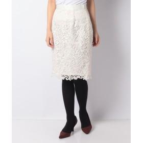 アプワイザーリッシェ カラーレースタイトスカート レディース オフホワイト 2 【Apuweiser-riche】