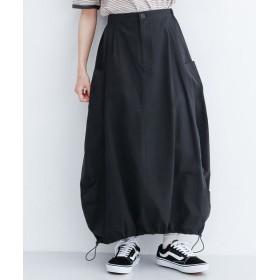 メルロー ドロスト裾バルーンスカート レディース ブラック FREE 【merlot】