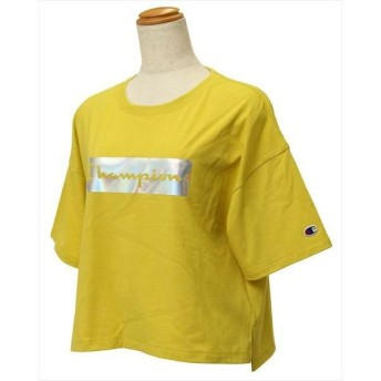 [Champion]チャンピオン レディース クロップド Tシャツ (CW-QS304)(740) イエロー[取寄商品]