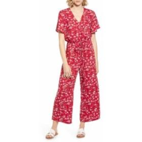 キャスロン CASLON レディース オールインワン ワンピース・ドレス Floral Crepe Jumpsuit Red P Techfolk Paisley Print