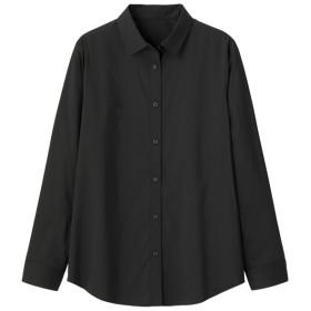 (GU)レギュラーシャツ(長袖)+E BLACK XXL