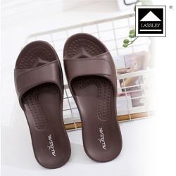 LASSLEY蕾絲妮-AllClean環保室內拖鞋/浴室拖鞋_咖啡色