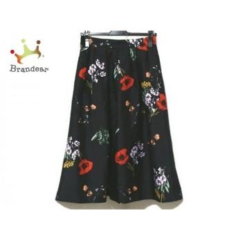 マイストラーダ Mystrada スカート サイズ38 M レディース 美品 黒×レッド×グリーン 花柄 新着 20190825