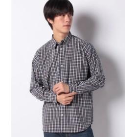 (koe/コエ)ドロップ レギュラーカラーブロードチェックシャツ/メンズ グレー