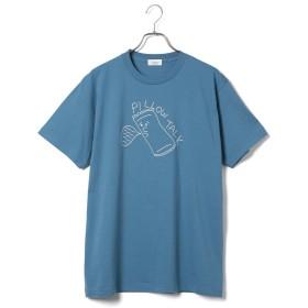 【60%OFF】 ジュンレッド コラボT Shirt ユニセックス ブルー(44) M 【JUNRed】 【タイムセール開催中】