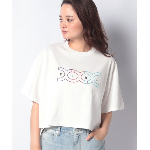 X-girl エックスガール CONNECTED LOGO CROPPED S/S MENS TEE