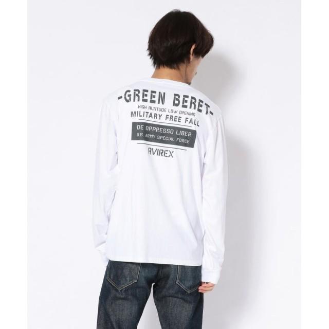 アヴィレックス クルーネックTシャツ グリーンベレー ハロ/T SHIRT GREEN BERET HALO メンズ WHITE L 【AVIREX】
