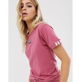 アディダス adidas Originals レディース Tシャツ トップス ryv t-shirt in pink マルーン