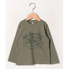 ビールーム アソート長袖Tシャツ レディース ライトカーキ 130 【b-ROOM】