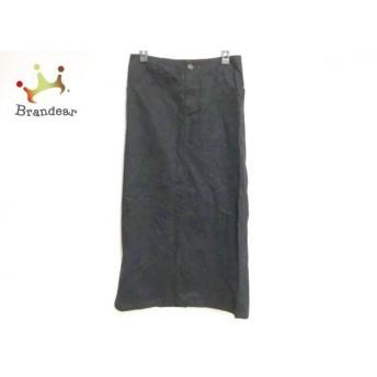 レキップ ヨシエイナバ L'EQUIPE YOSHIE INABA ロングスカート サイズ28 L レディース 黒 新着 20190825