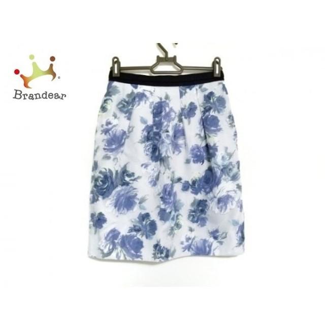 ジャスグリッティー スカート サイズ0 XS レディース ライトグレー×ブルー×マルチ 花柄 新着 20190825