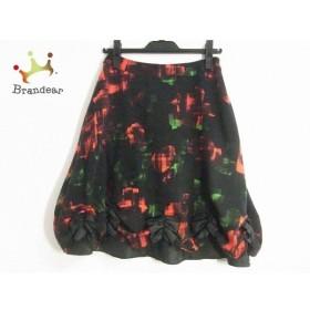 エムズグレイシー M'S GRACY スカート サイズ38 M レディース 美品 黒×レッド×グリーン   スペシャル特価 20191115