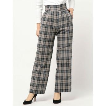 パンツ・ズボン全般 - GYDA チェックハイウエストワイドパンツ
