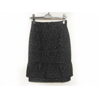 マテリア MATERIA スカート サイズ36 S レディース 美品 黒 ラメ【中古】