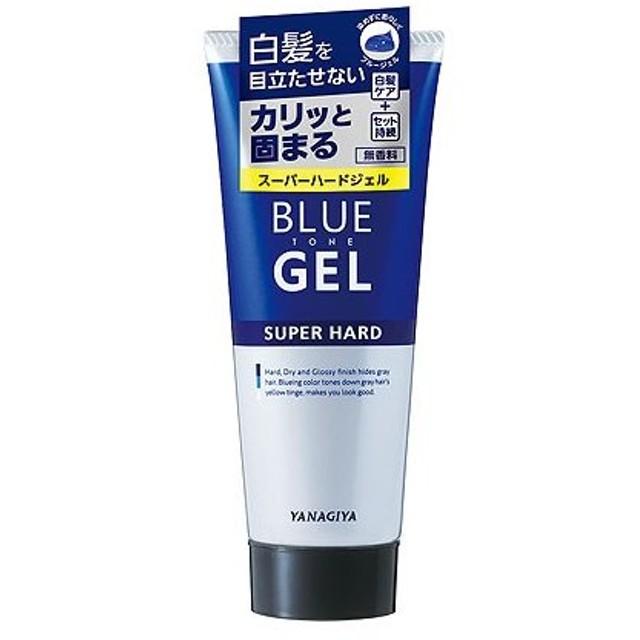 【5%還元】【価格据え置き】柳屋 ブルートーン 白髪用ジェル スーパーハード (整髪料) 200g