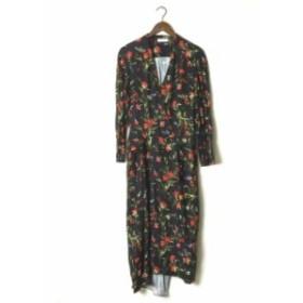 BALENCIAGA バレンシアガ 17SS Floral-Print Wrap Dress クレープフローラルプリントラップドレス 40