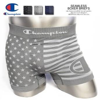 CHAMPION チャンピオン SEAMLESS BOXER BRIEFS メンズ ボクサーブリーフ ボクサーショーツ ボクサーパンツ ストリート メール便可 atfacc