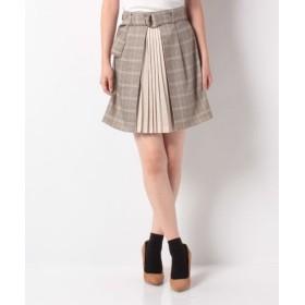 (CECIL McBEE/セシルマクビー)フロントプリーツデザインスカート/レディース ベージュ