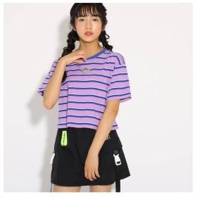 【ピンクラテ/PINK-Latte】 クロップド Tシャツ