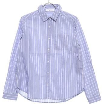 サマンサモスモス ブルー アウトレット Samansa Mos2 blue outlet ブロード レギュラーシャツ (サックス)