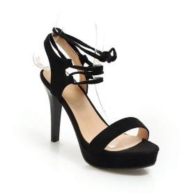 [AdeeSu] プラットフォームポンプファッション調節可能ストラップドレスウィメンズ SLC04796 ブラック - 22.5cm
