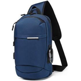 [ララゲン] メンズボディバッグ ワンショルダー 撥水 9.7インチipad対応 自転車鞄