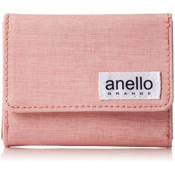[アネロ グランデ] ミニ折財布 GJ-H2405 LS 微光沢杢ポリ 三つ折り財布 ピンク