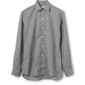 ESTNATION / REDA ACTIVE ウールセミワイドカラーシャツ トップグレー/SMALL(エストネーション)◆メンズ シャツ/ブラウス