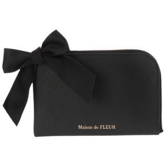 メゾンドフルール Maison de FLEUR L字ポーチ (Black)