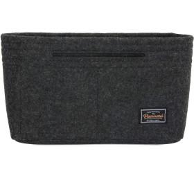 [Pacmaxi]バッグインバッグ フェルト 小さめ 軽量 小物収納 バッグ内整理整頓 自立 コンパクト レディース インナーバッグ (23x14x7cm, ダークグレー)