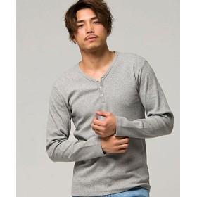 (SILVER BULLET/シルバーバレット)CavariA【キャバリア】ネックが選べるスパンテレコ長袖Tシャツ/メンズ グレー系2