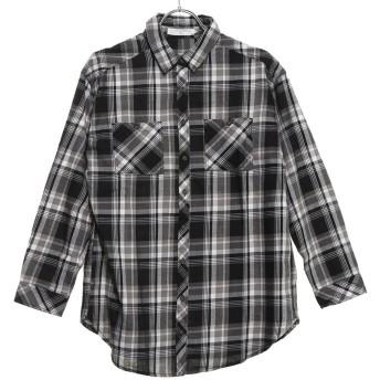 サマンサモスモス ブルー アウトレット Samansa Mos2 blue outlet ビエラ WPKユルシャツ (ブラック)