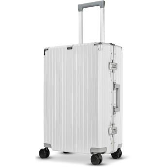 Langxj hj スーツケース キャリーバッグ 超軽量 TSAロック搭載 ファスナータイプ 6021 (XL, ワイト)