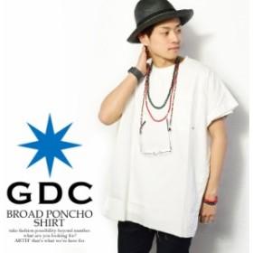 50%OFF SALE セール GDC ジーディーシー BROAD PONCHO SHIRT メンズ シャツ ポンチョ 送料無料 gdc atftps