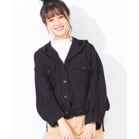 (WEGO/ウィゴー)WEGO/サイドリボンフードシャツ/レディース ブラック