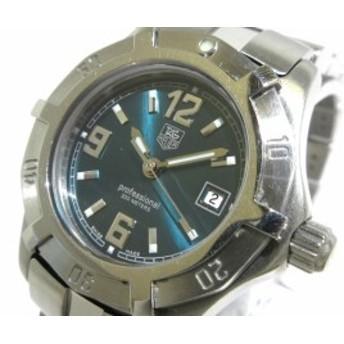 タグホイヤー 腕時計 エクスクルーシブ WN1315-0 レディース グリーン ※実物は画像よりももう少し黄色味の強いお色です【中古】