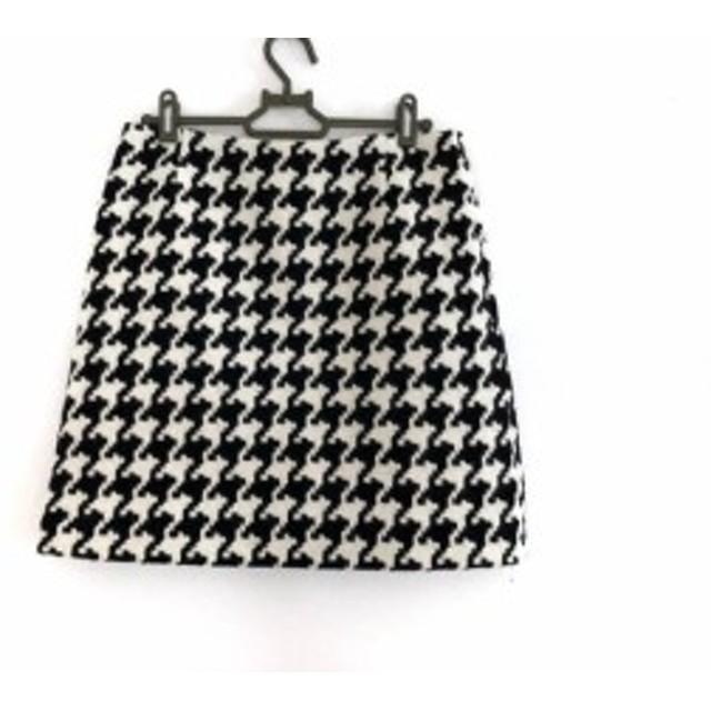 トゥモローランド TOMORROWLAND ミニスカート サイズ38 M レディース 黒×白 千鳥格子【中古】