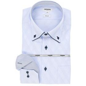 【TAKA-Q:トップス】イージーケア スリムフィット ドゥエボットーニボタンダウン長袖ビジネスドレスシャツ/ワイシャツ