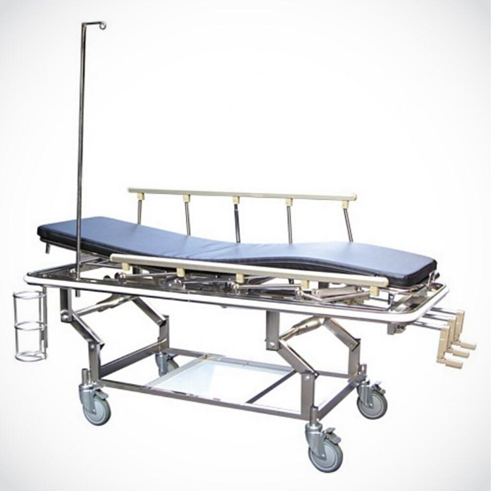 來而康 三搖桿急診推床 附不鏽鋼iv架 yh025