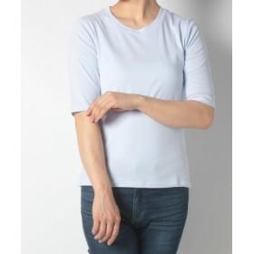 (FINE OUTLET/ファインアウトレット)【AMERICAN HOLIC】半袖Tシャツ/レディース サックス