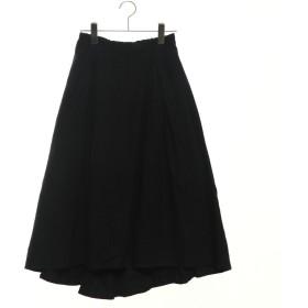 サマンサ モスモス アウトレット Samansa Mos2 outlet モールスキンイレヘムスカート (ブラック)