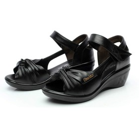 [IRJMJJ] 26.5cm 26cm サンダル 靴 レディース リゾート ストラップ ボヘミアン エスニックグラディエーター 歩きやすい ウェッジソール オープントゥ 日常 美脚 身長up 5cm シンプル 大きいサイズ