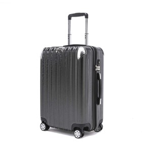 [PIANETA] 傷がつきにくい超軽量 スーツケース ハード キャリーケース(キャリーバッグ)TSA搭載 静音双輪タイプ 段階調整式キャリーバー M S 機内持込可 人気色 一年品質保証 (グレー, S サイズ(機内持込可,1〜3日の旅行用))