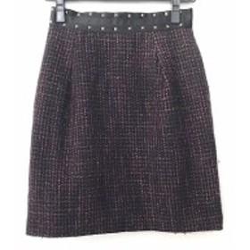 ジャスグリッティー JUSGLITTY スカート サイズ1 S レディース 美品 黒×パープル×マルチ ラメ/スタッズ【中古】