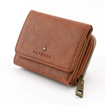 三つ折り財布 シンプル レザークロスミニ財布 [ノーマン] アルトローズ 160060-37